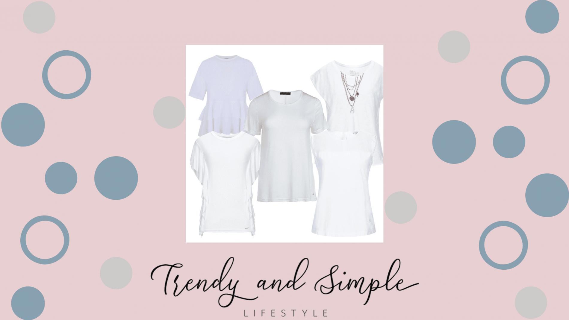 T-shirt bianca:come creare tre outfit senza tempo