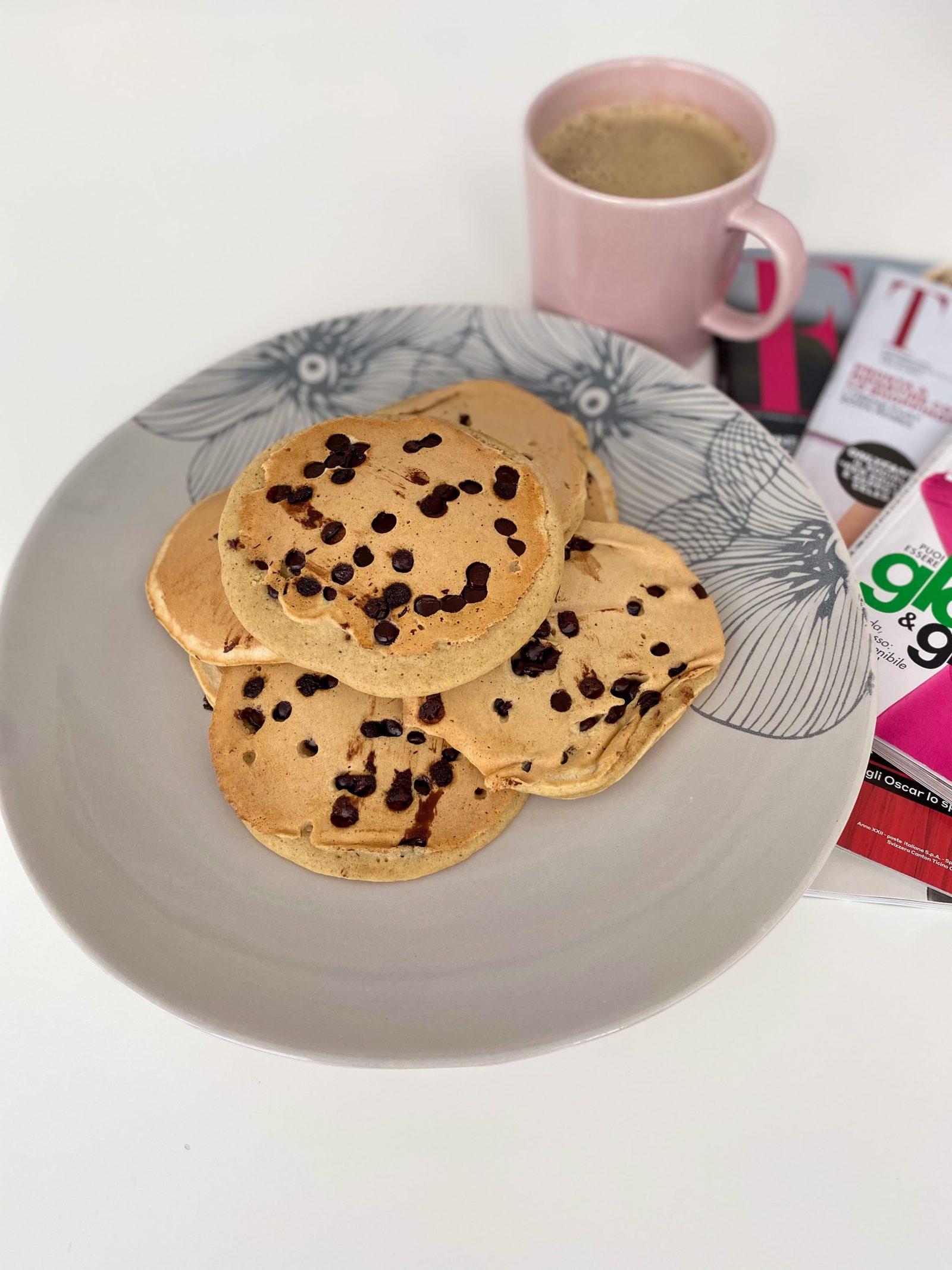 pancake proteici con farina d'avena integrale